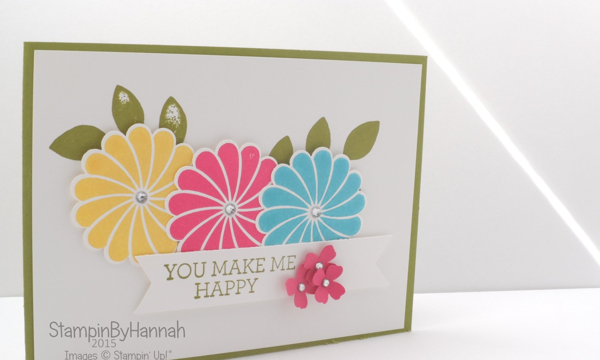 Stampin' Up! UK Freshly Made Sketches Crazy About You Video tutorial