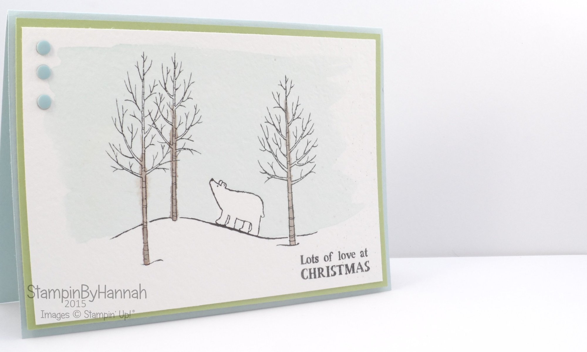 Stampin' Up! Uk White Christmas Watercolour Video tutorial