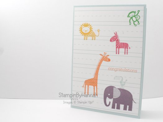 Stampin' Up! UK Zoo Babies congratulations card
