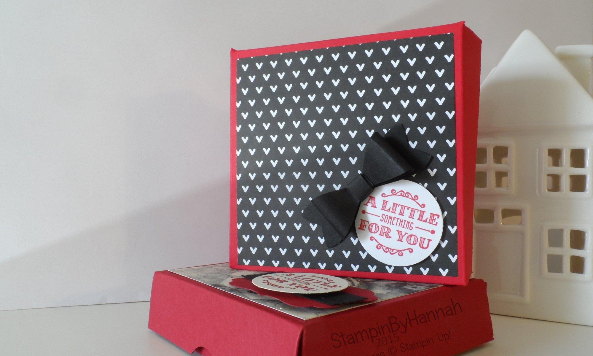 Stampin' Up! UK Gift Card Gift Box video tutorial