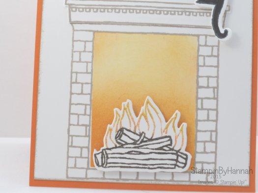 Stampin' Up! UK festive fireplace week ink blending