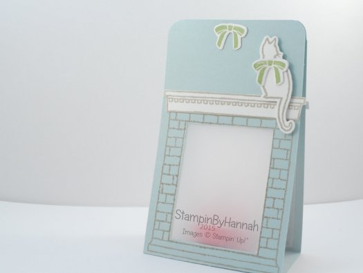 Stampin' Up! UK Festive Fireplace Candles cat Christmas