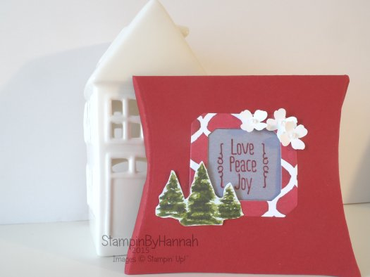 Stampin' Up! UK pillow box Christmas favour