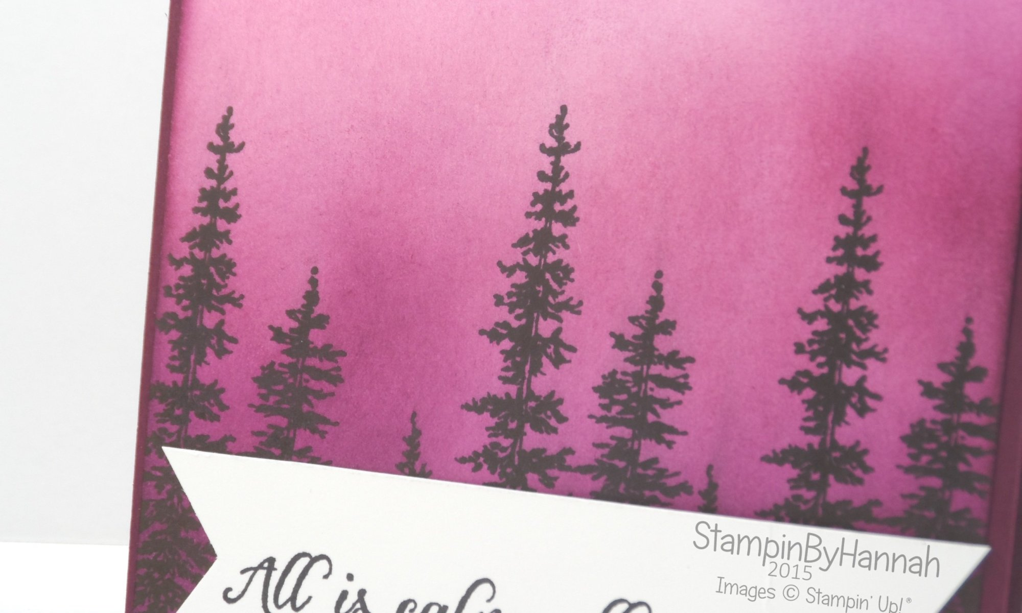 Stampin' Up! UK Wonderland Ink Blending