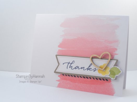 Stampin' Up! UK Watercolour Wishes Thanks Card