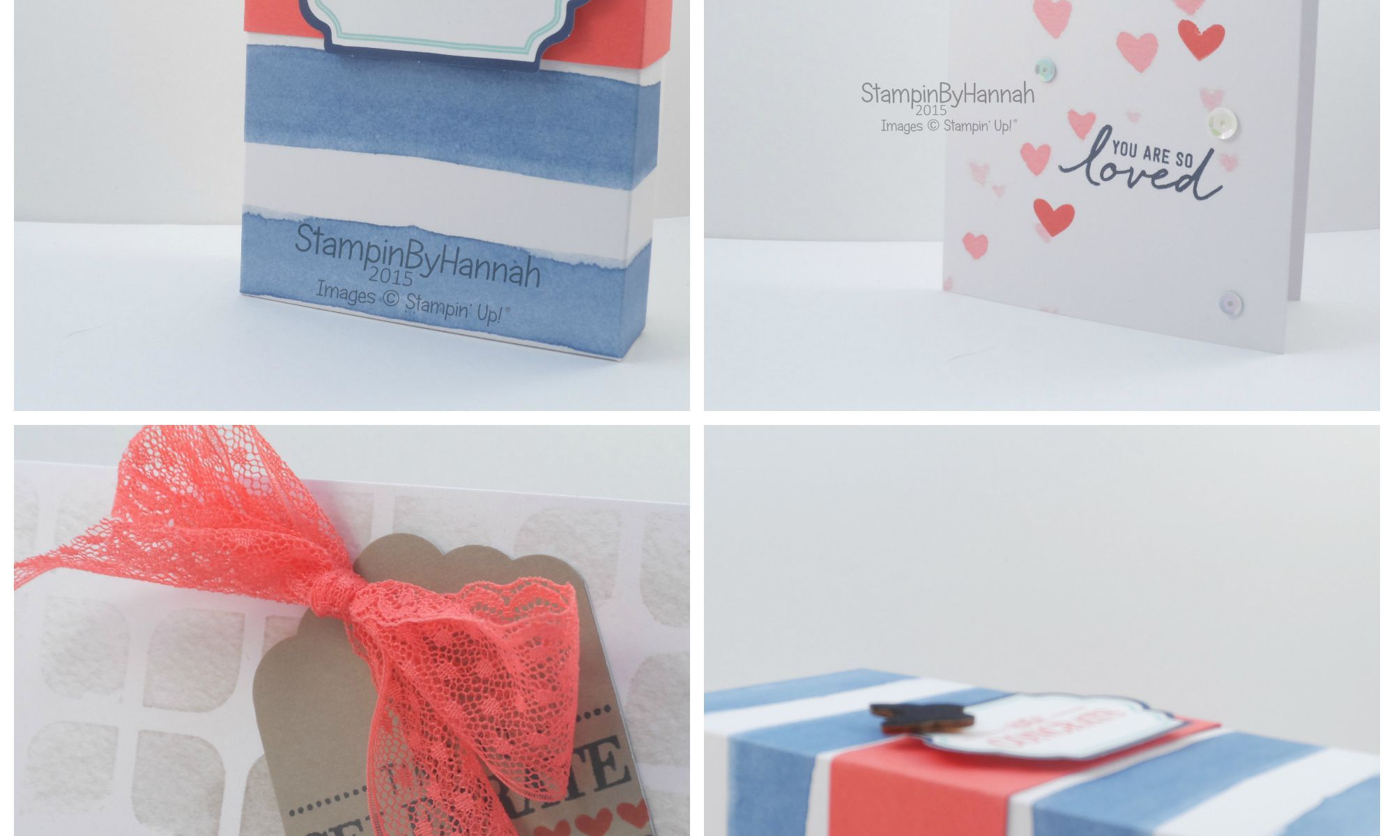 Stampin' Up! UK Watercolour wishes gift packaging