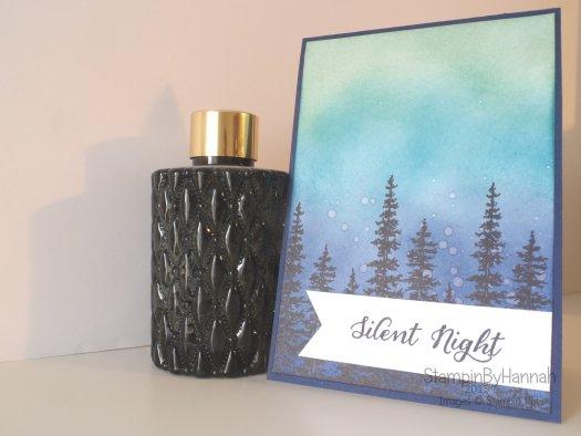 Stampin' Up! UK Wonderland Ink blending Christmas Card