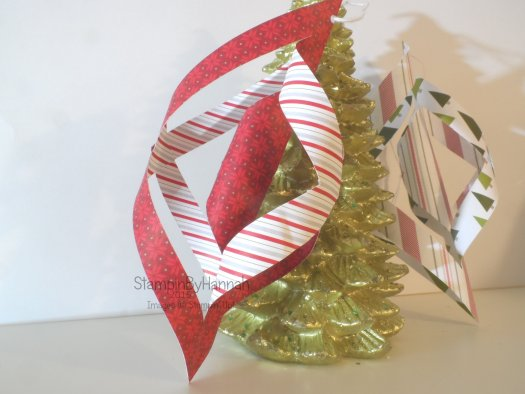 Stampin' Up! Christmas Tree Decoration Merry Moments Designer Series Paper