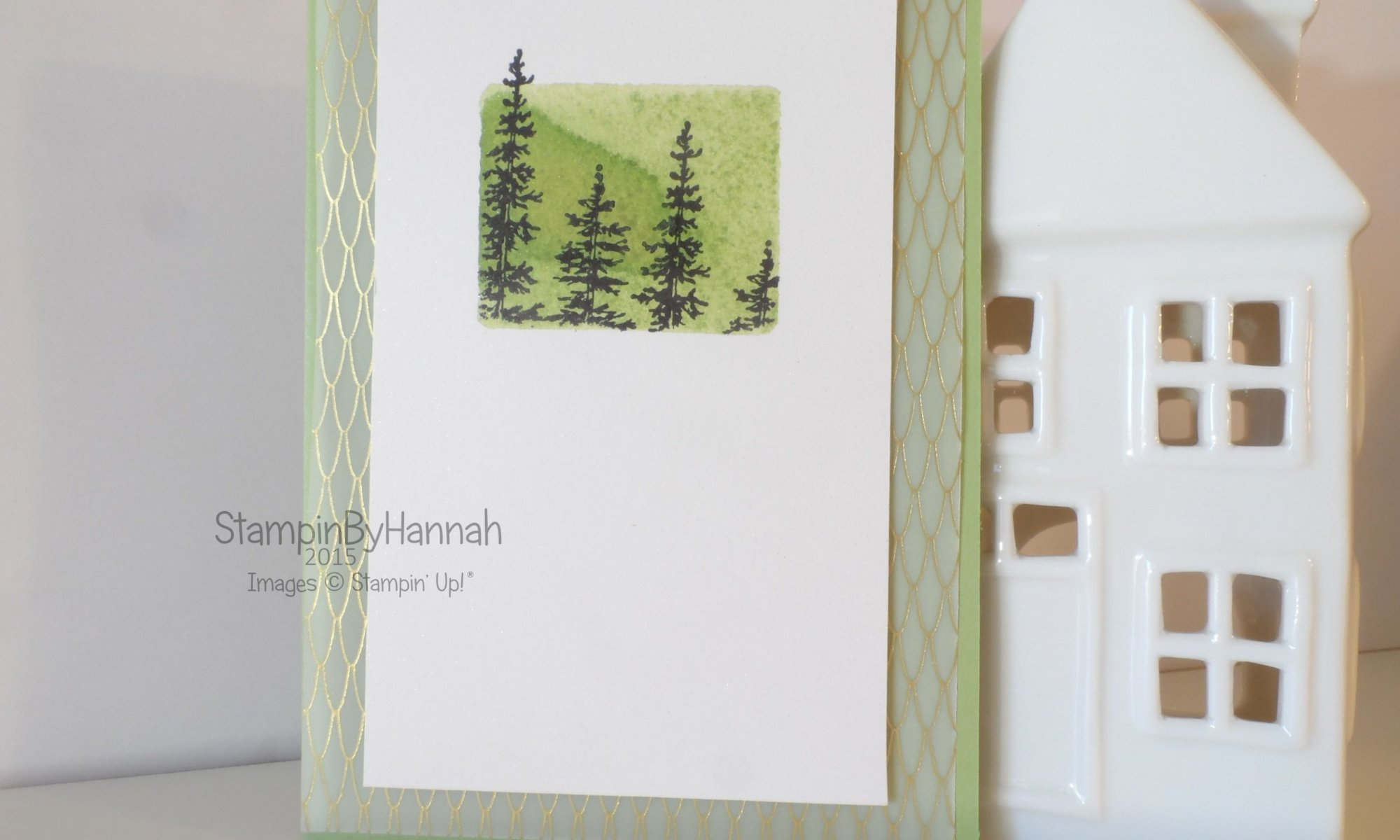 Stampin' Up! Wonderland Vellum Sympathy card