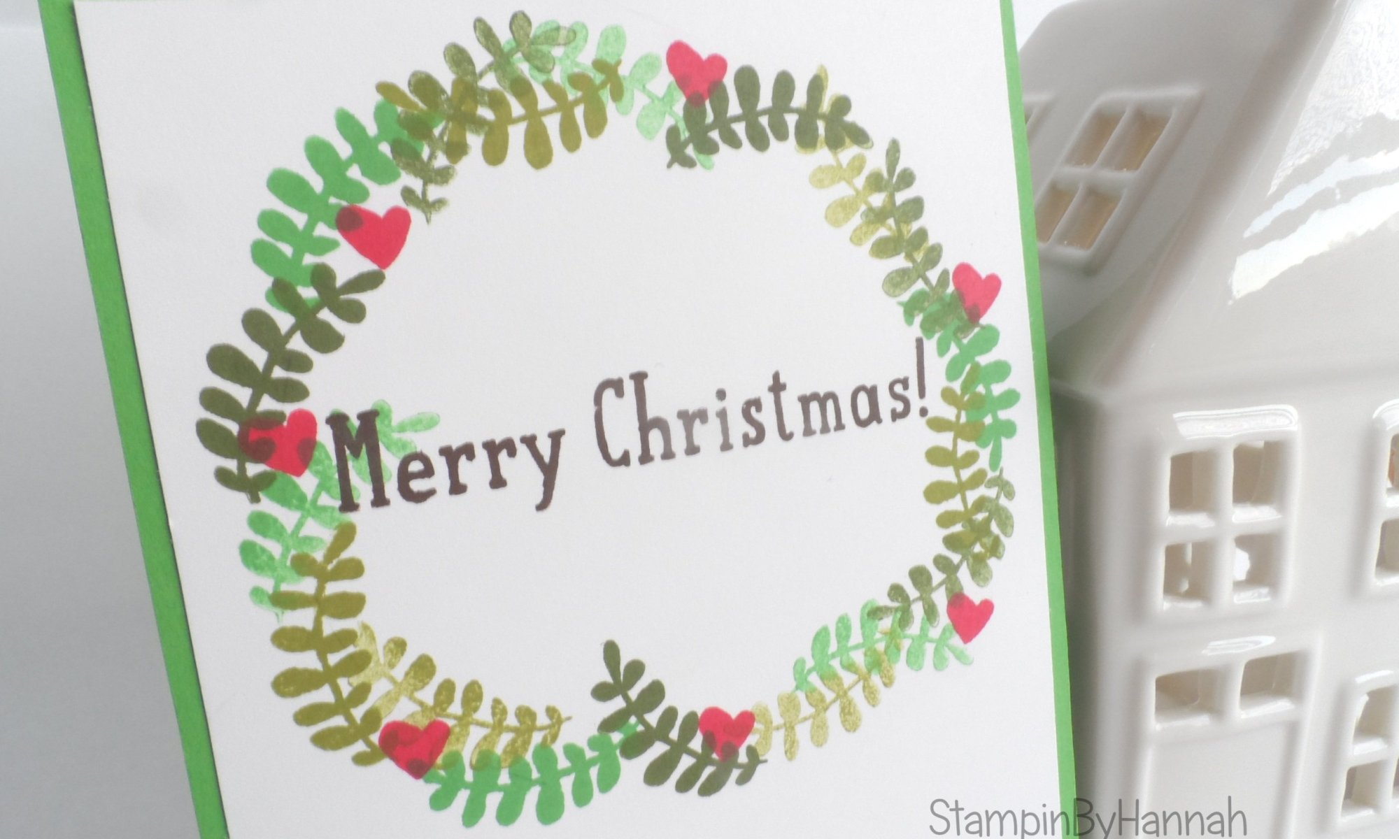 Stampin' Up! UK Christmas wreath
