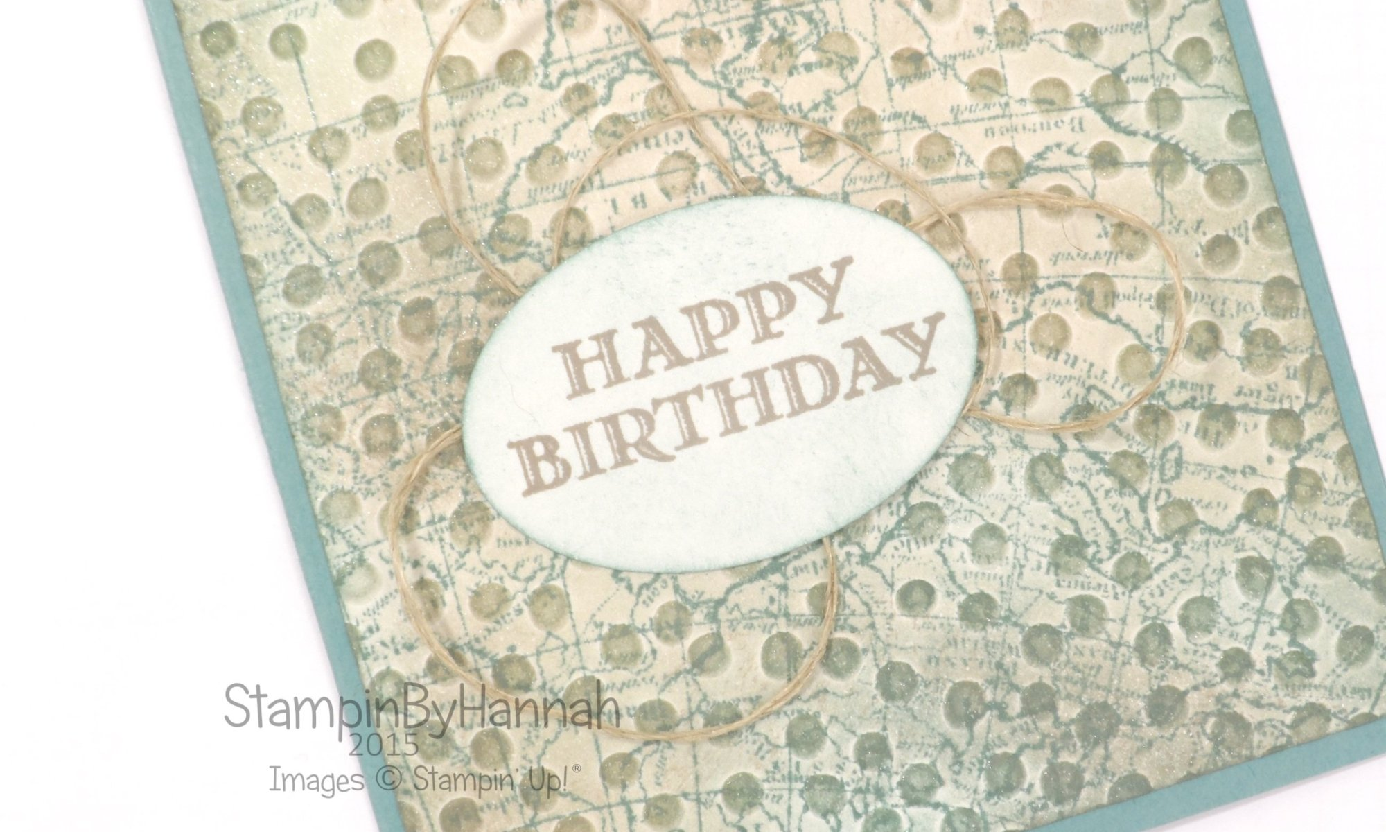 Stampin' Up! UK male birthday card