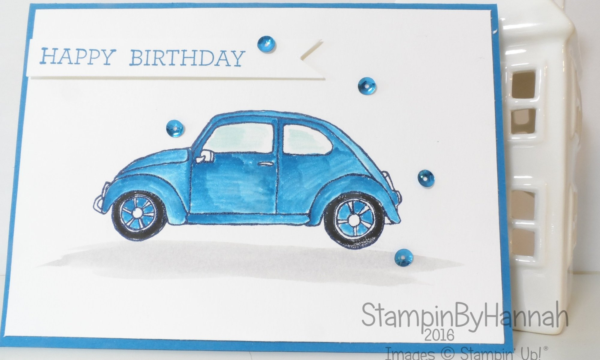 Stampin' Up! UK Beautiful Ride mans birthday card