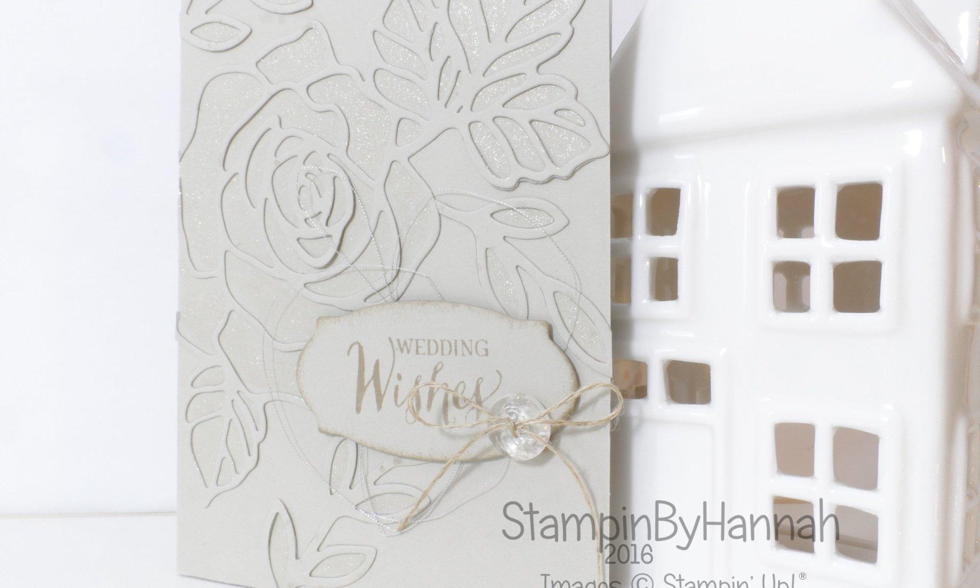 Stampin' Up! UK Rose Wonder Wedding Card