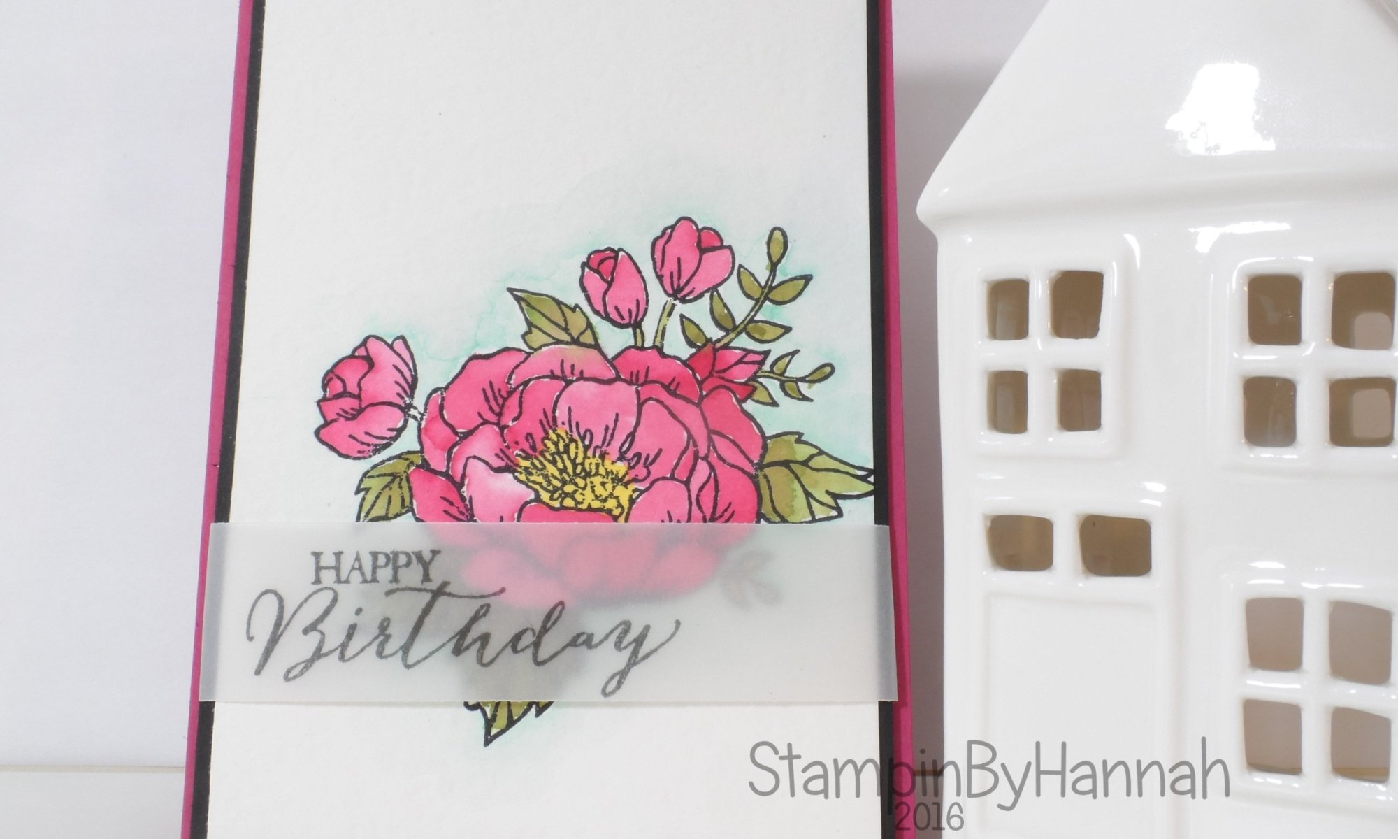 Stampin' Up! UK Watercolour birthday blooms