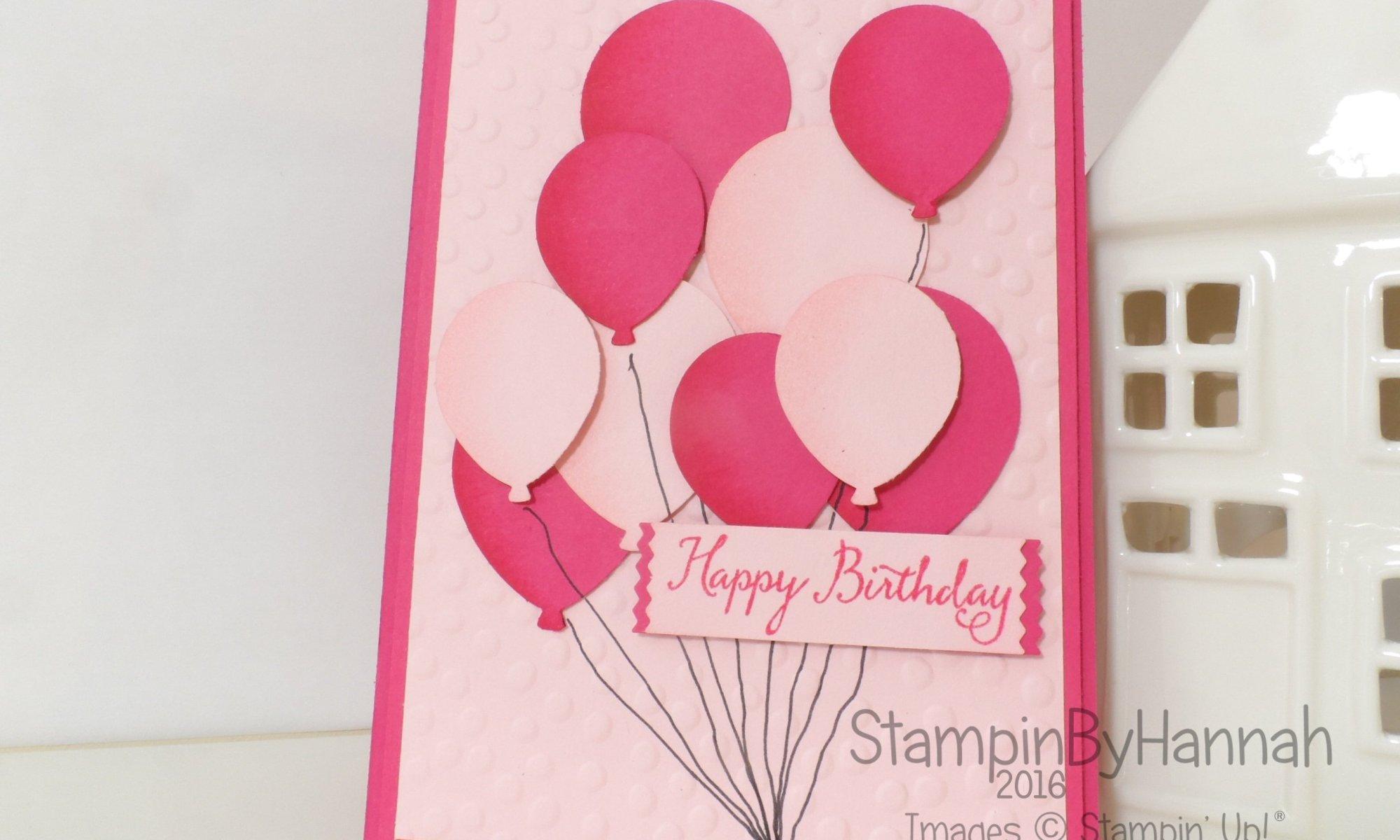 Stampin' Up! UK Balloon birthday card
