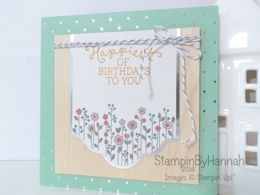 Stampin' Up! UK Cottage greetings Birthday Blooms