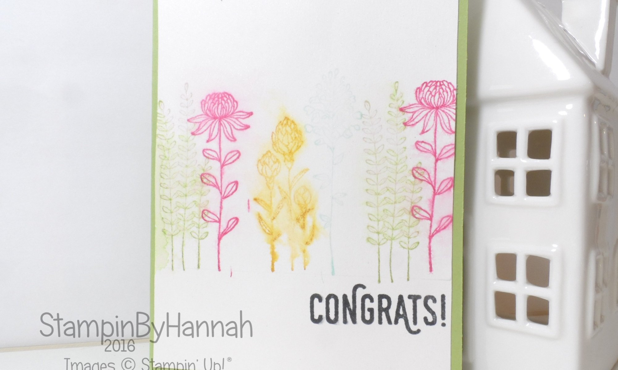 Stampin' Up! Uk Congrats Flowering Fields Perfect Pairings