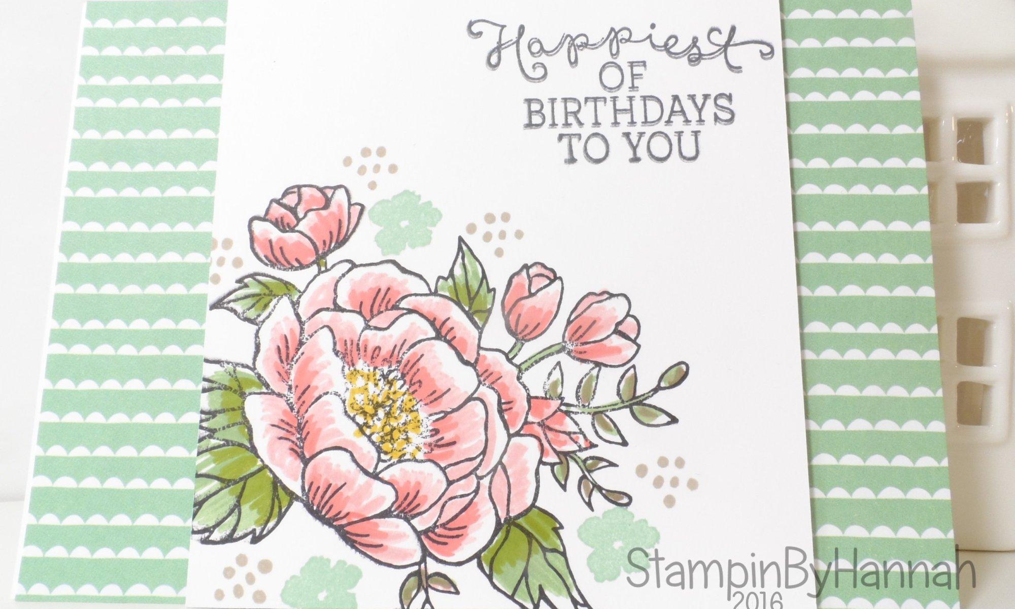 Stampin' Up! UK Birthday Blooms Card