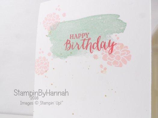 Stampin' Up! UK One layer Birthday card perpetual birthday