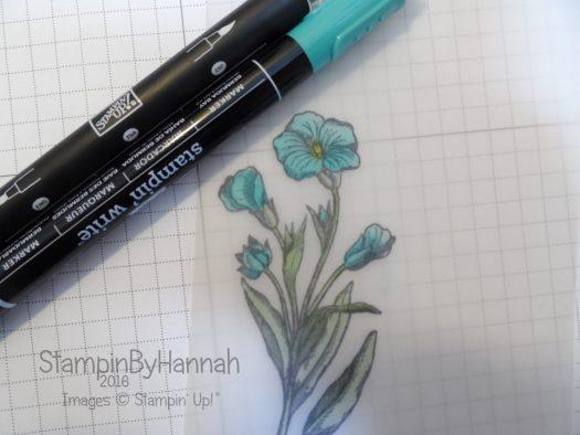 Stampin' Up! UK Blender Pens Stampin' Write Makers Vellum Colouring