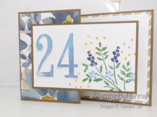 Fancy Fold Friday Z fold birthday card using Number of Years from Stampin' Up! Uk