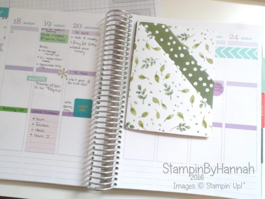 Diagonal Double Pocket Planner Insert Erin Condren Planner using Stampin' Up! UK Designer Series Paper