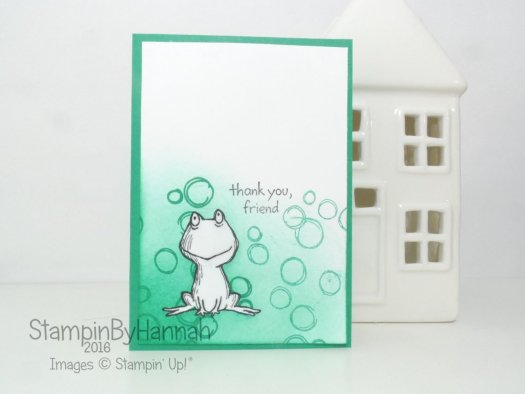 Emerald Envy Note Card featuring Love You Lots from Stampin' Up!