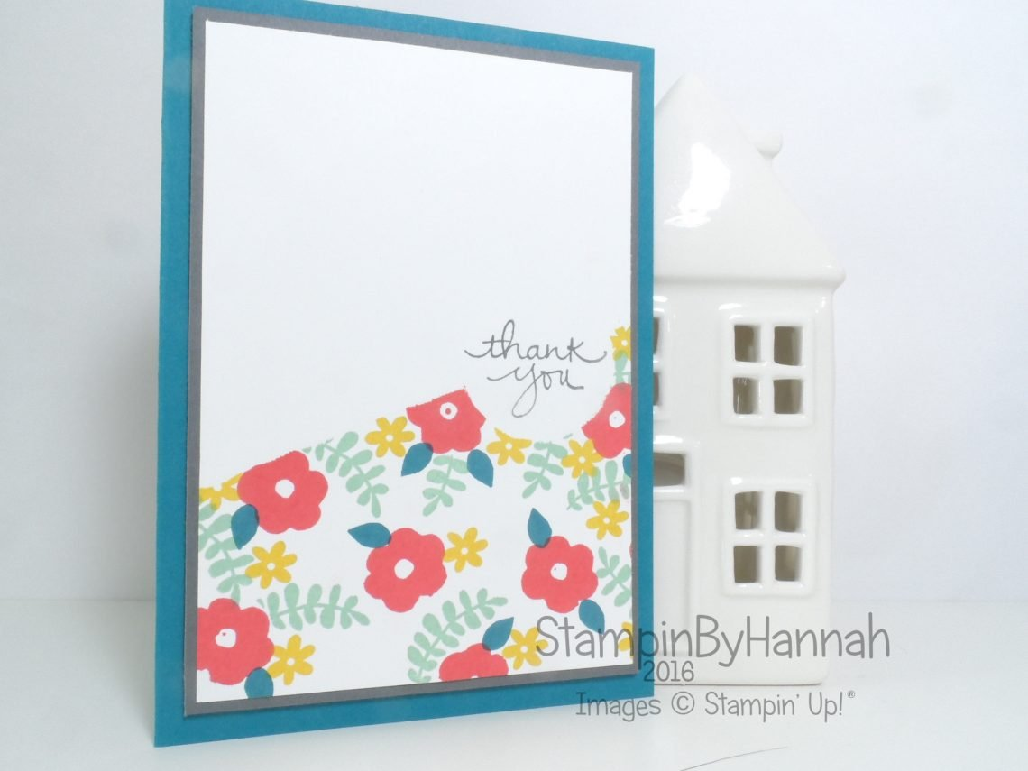 Make It Monday video tutorial creating backgrounds will small stamps featuring Endless Thanks from Stampin' Up!