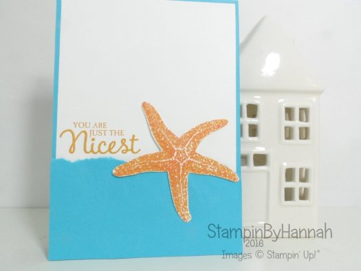 Picture Perfect Starfish using Stampin' Up! UK products