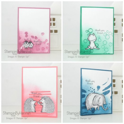 Masked Note Cards set Featuring Love You Lots In Colours Dapper Denim Emerald Envy Sweet Sugarplum Flirty Flamingo Stampin' Up! UK