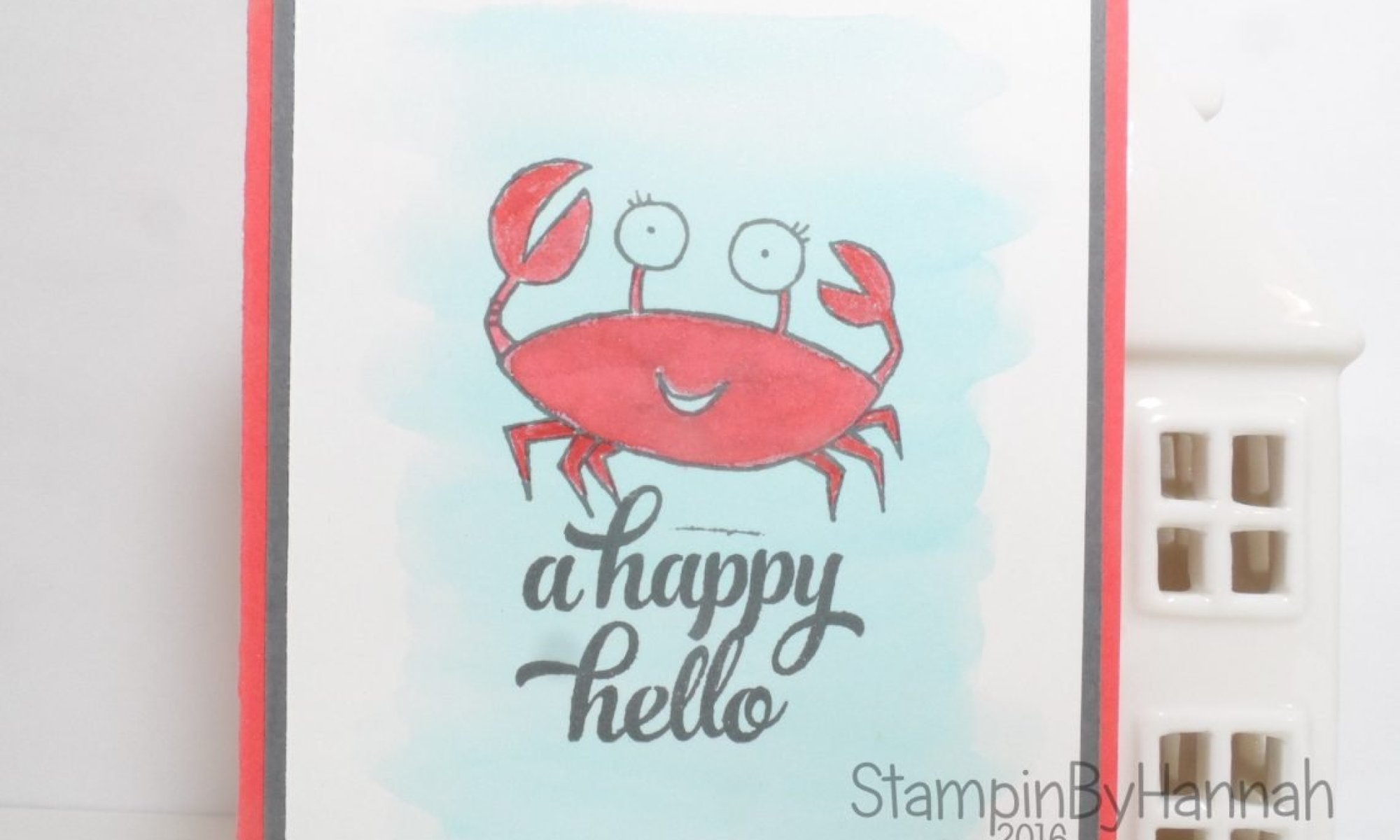 A Happy Hello Card using You're Sublime from Stampin' Up! UK