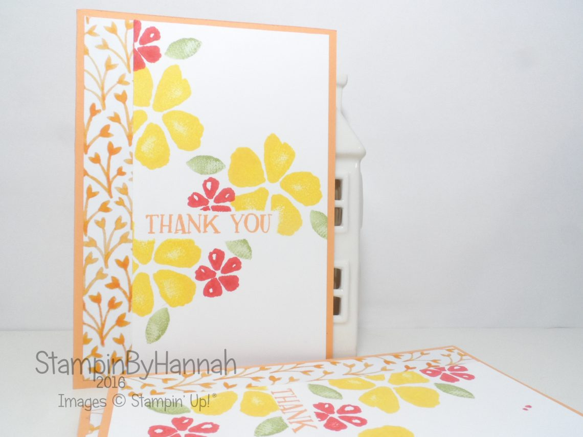 Customer Thank You Cards using Fresh Fruit from Stampin' Up! UK