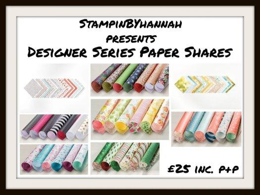 Designer Series Paper Share Stampin' Up! Uk from stampinbyhannah