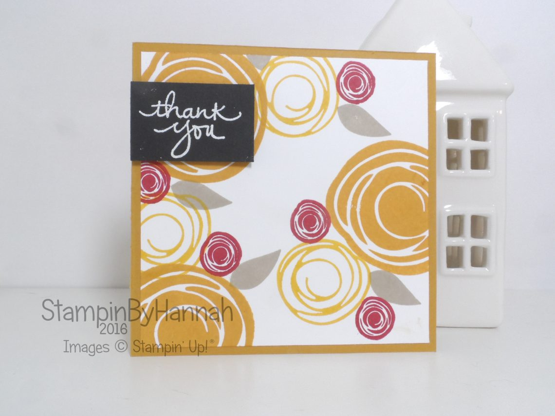 Make It Monday Video Tutorial Custom Patterned Paper using Stampin' Up! stamps