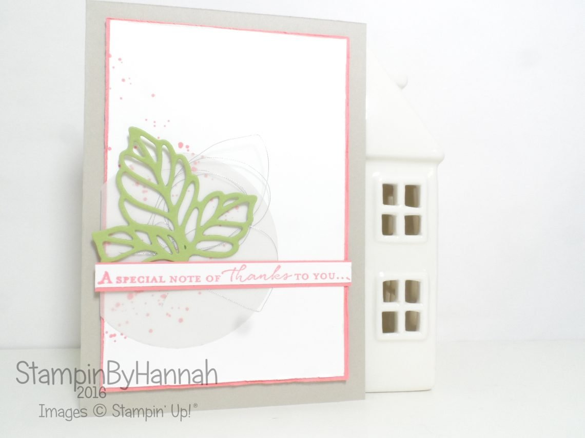 Rose Wonder thank you card using Floral Phrases from Stampin' Up! UK