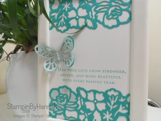 Frame using Floral Phrases and Butterflies from Stampin' Up! UK