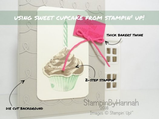 Sweet Cupcake CASE Video Tutorial using Stampin' Up! UK Products