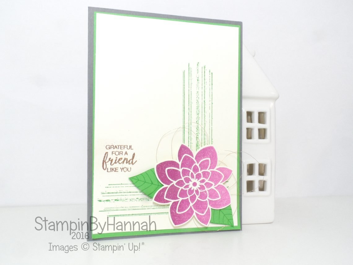 Simply Sketched Saturday Challenge featuring Crazy About You Gorgeous Grunge Bunch of Blossoms From Stampin' Up! UK