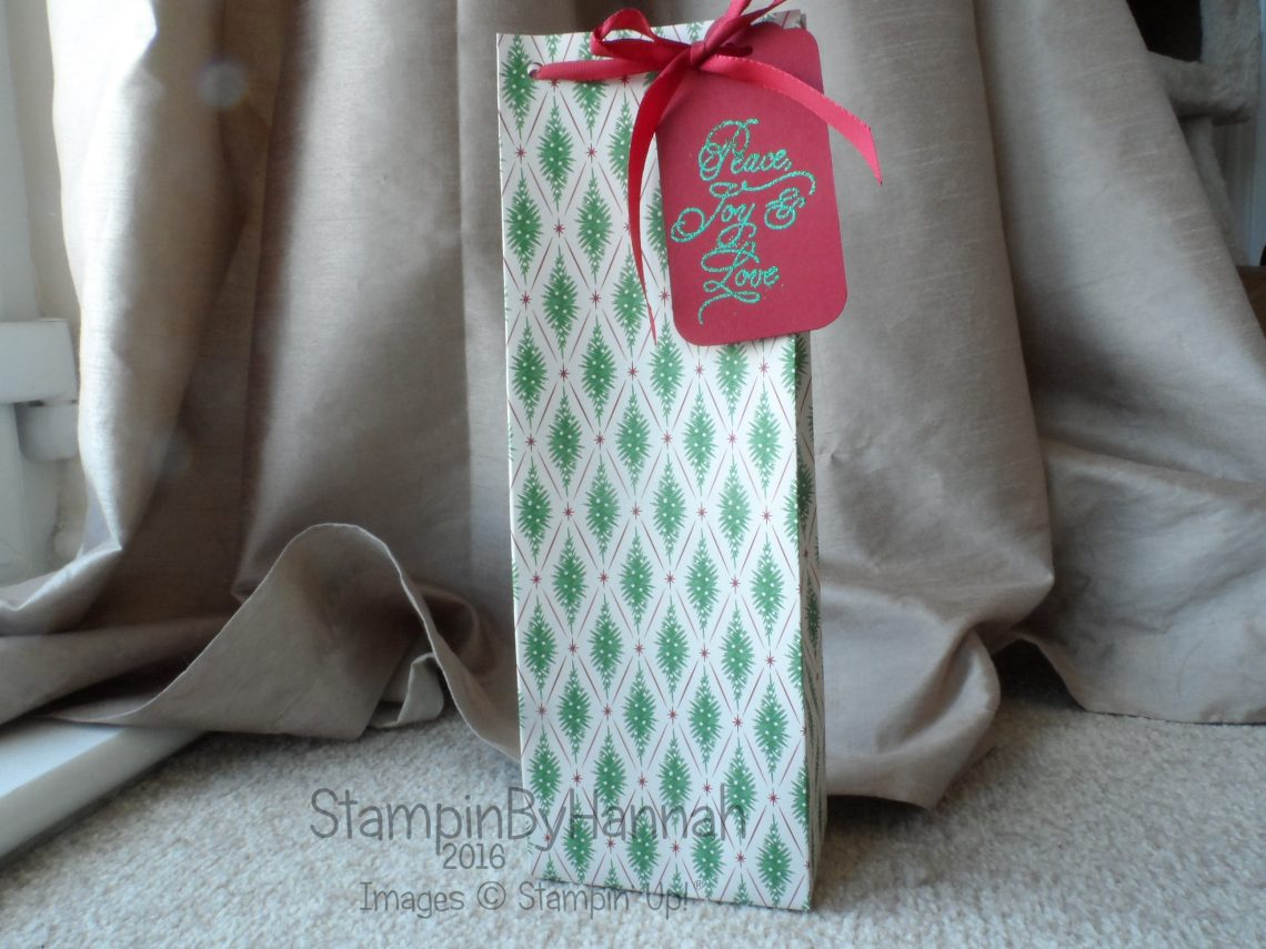 Large gift bag featuring This Christmas Designer Series Paper from Stampin' Up!