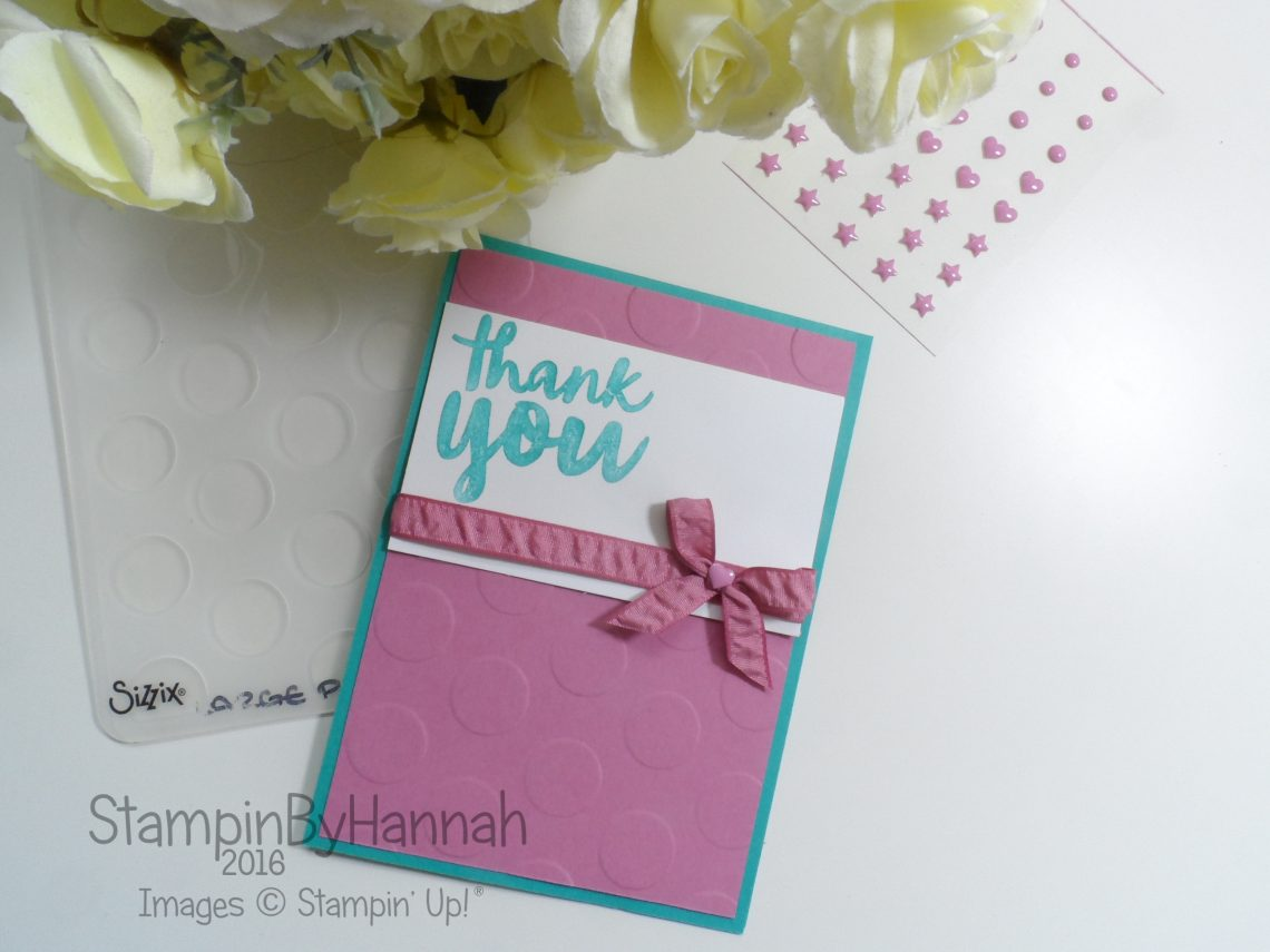 Thank you card using Thankful Thoughts From Stampin' Up! UK