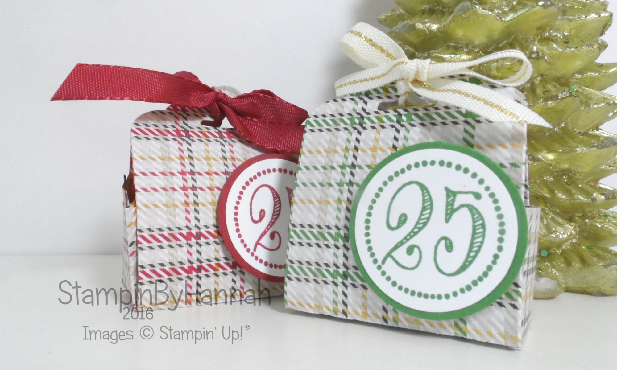Merriest Wishes Warmth and Cheer Chocolate Treat Pouch video tutorial using Stampin' Up! UK products