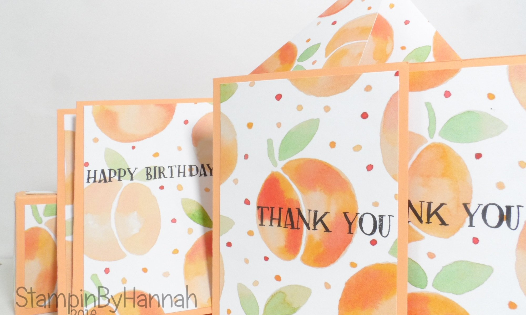 Note Card gift Set using Fresh Fruit from Stampin' Up! UK