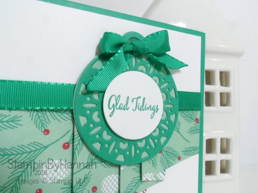Make It Monday Video Tutorial Pleated Designer Series Paper card using Presents and Pine Cones and Merriest Wishes from Stampin' Up! UK