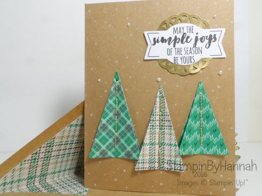Christmas Pines and Stitched with Cheer Christmas Card from Stampin' Up! UK