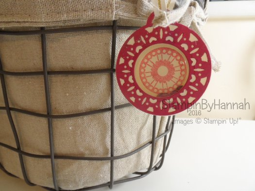 Quick and Easy tags using Merriest Wishes from Stampin' Up! UK