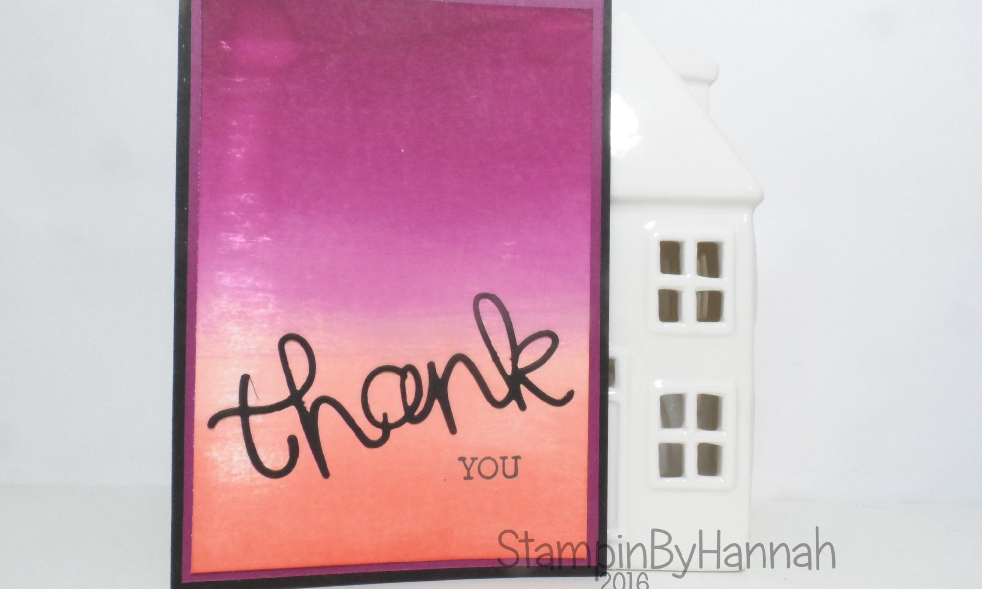 How to Create an easy ombre background with Crazy About You from Stampin' Up! UK