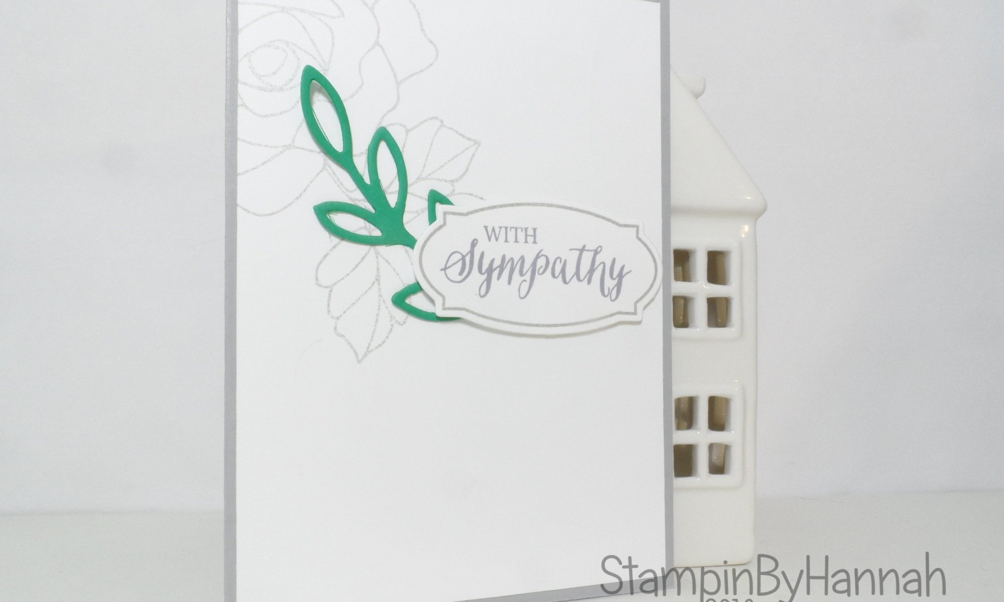 How to video tutorial quick and easy simple sympathy card using Rose Wonder from Stampin' Up! UK
