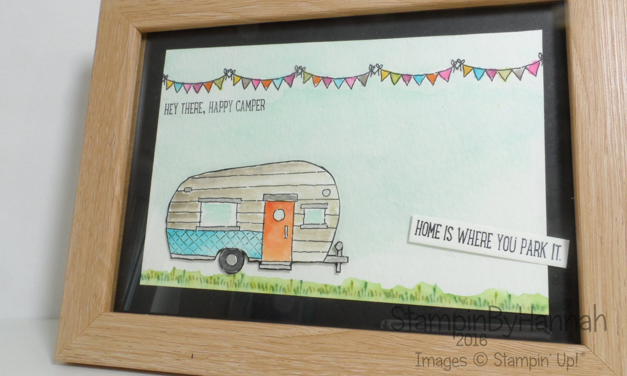 Glamper Greetings Watercolour Home Decor using Stampin' Up! Products