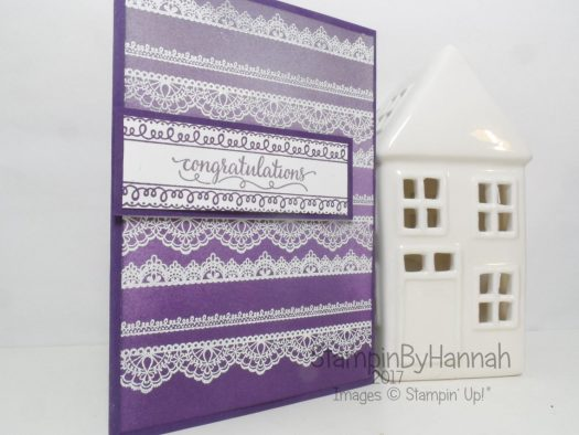 Sale-a-bration 2017 wedding card using Delicate Details from Stampin' Up! UK