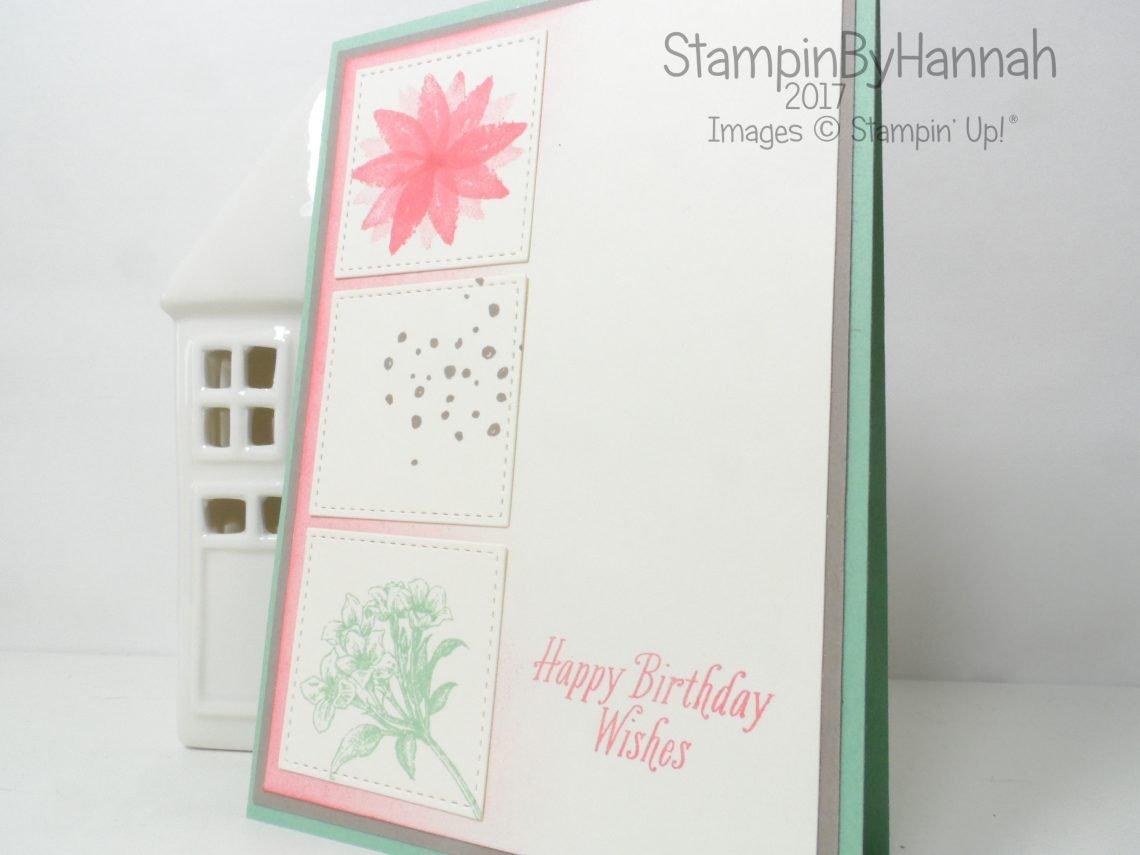 Birthday Card stamp set sampler using Avant Garden from Stampin' Up! UK